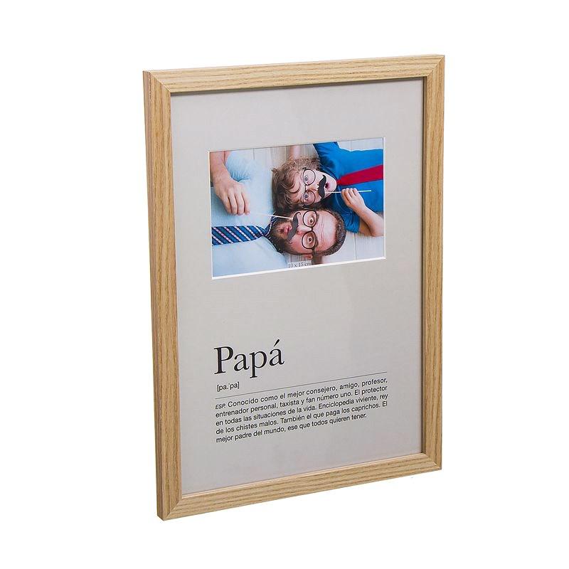 Portafotos definición papá