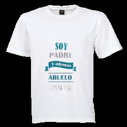 Camiseta Padre y abuelo Detalletes