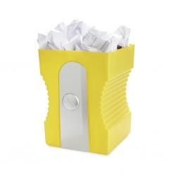 Sacapuntas papelera amarilla detalletes